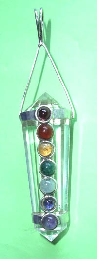DT Crystal Seven Chakra Pendant