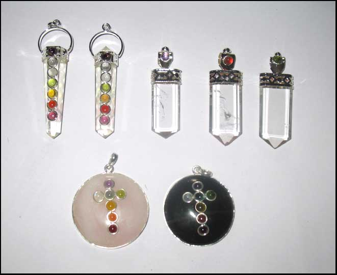M Gemstone Pendants