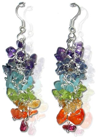 Seven Chakra Earrings