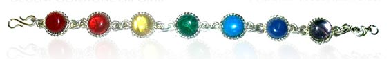 Seven Chakra Metal Bracelets