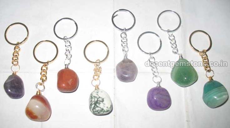 Tumbled Stone Keychain