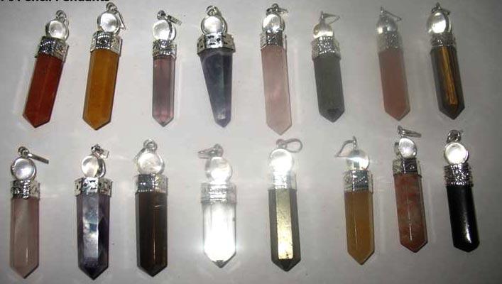 Tumbled Stone Keychain Pendants