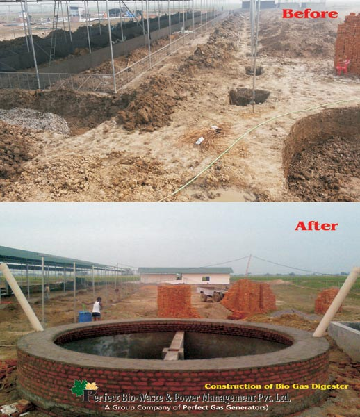 Construction of Biogas Digesters