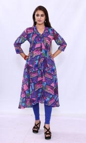 Georgette Long Kurtis