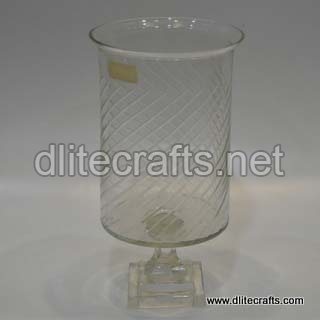 Clear Cut Glass Hurricane