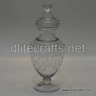 Clear Cutting Glass Jar