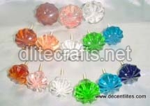 Color Glass Knob