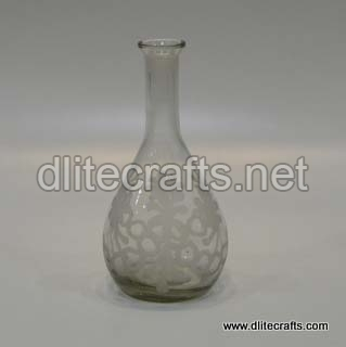 Glass Clear Cut Bottle