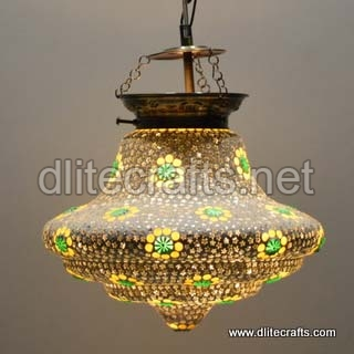 Glass Color Mosaic Hanging Lamp