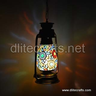 Glass Color Mosaic Lantern