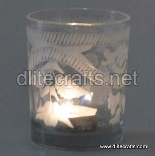 Glass Etching Cut Votive