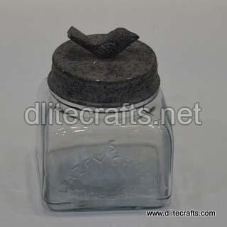 Glass Lid Jar Press