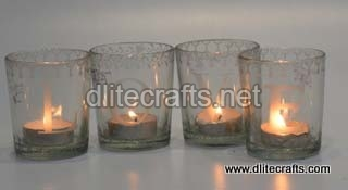 Glass Love Votive Set