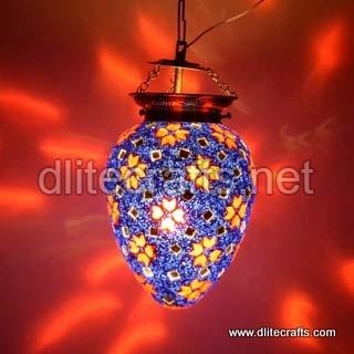 Glass Mosaic Blue Hanging