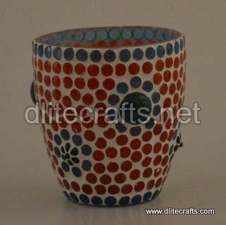 Glass Mosaic Votive Color