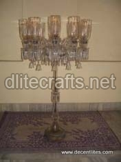Glass Pedestal Lamps