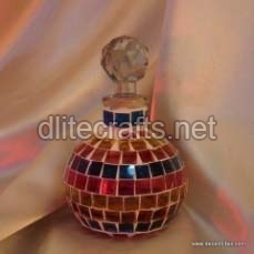 Mosaic Glass Perfume Bottle And Decanter