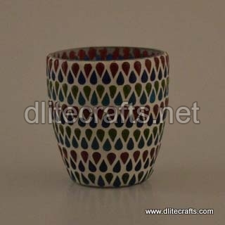 Multi Color Votive Glass