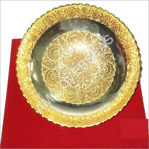 Gold Plated Serving Tray