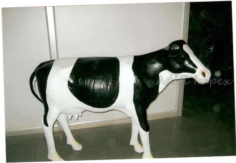 Handicraft Leather American Cow Sculpture
