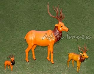 Handicraft Leather Deer Sculpture