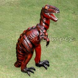 Handicraft Leather Dinosaur Sculpture