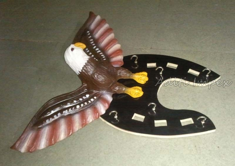 Handicraft Leather Eagle Key Holder Sculpture
