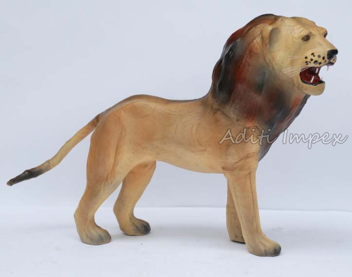 Handicraft Leather Lion Sculpture
