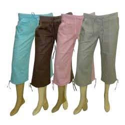 Ladies Cotton Capris