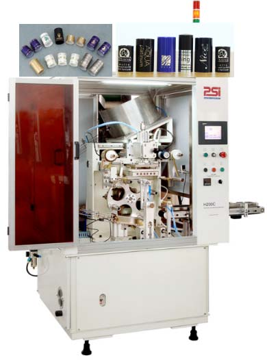 (H200C)Auto hot stamping machine for wine or cosmetic caps
