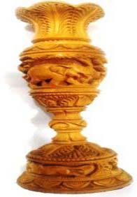 Wooden Flower Vase 01
