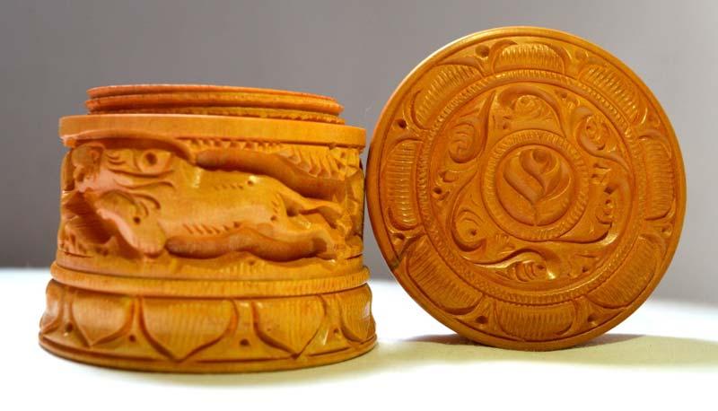Wooden Round Box 02