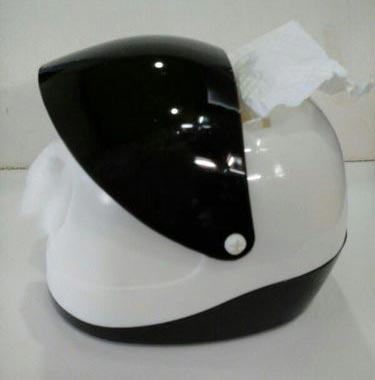 Helmet Shaped Tissue Dispenser