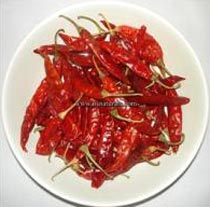 Dried Red Chilli Sannam S4 With Stem