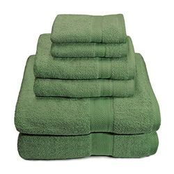 Green Army Cotton Towels