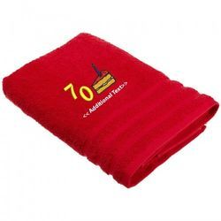 Red Personalized Towels