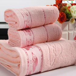 Pink Cotton Hotel Towels