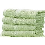 Light Green Cotton Bath Towels