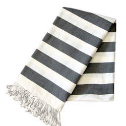 Black & White Bold Striped Bath Towels