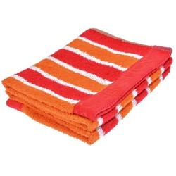Orange and Red Striped Hand Towels