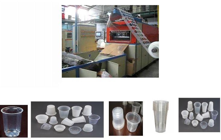 Fully Automatic Disposal Plastic Glass Making Machine