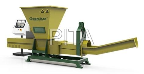 De-watering and compactor for packagings