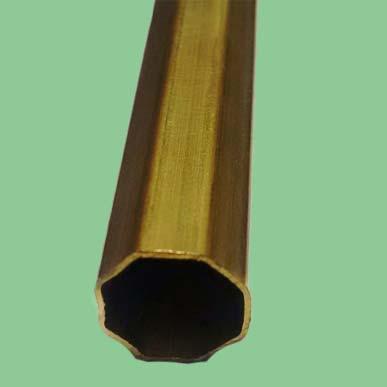 Octagonal Brass Tubes