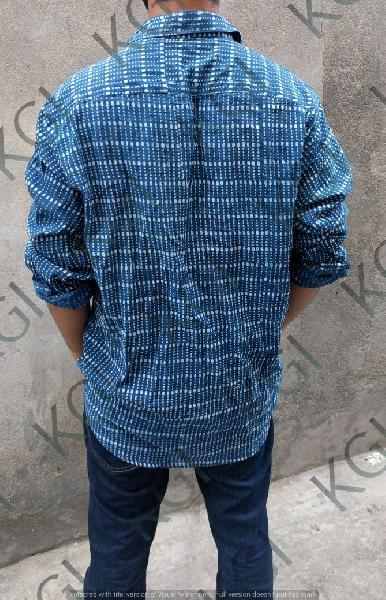 Hand Block Printed Mens Shirt 01
