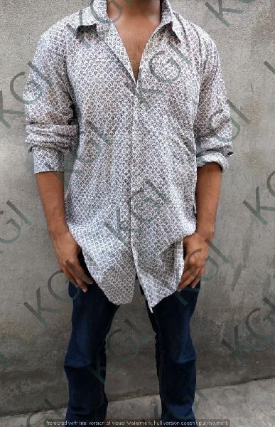 Hand Block Printed Mens Shirt 03