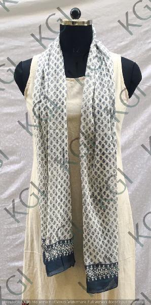 Hand Block Printed Scarves 03