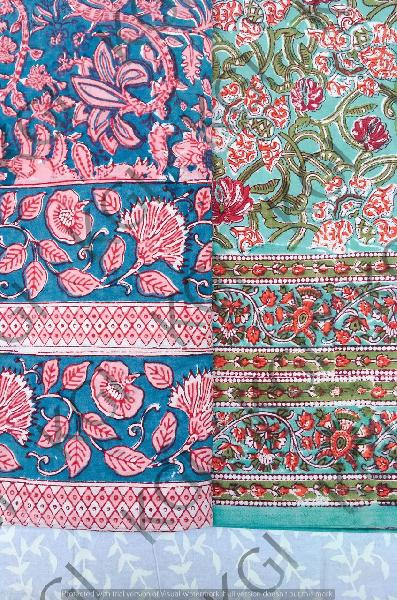 Hand Block Printed Bed Cover 01