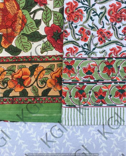Hand Block Printed Bed Cover 02