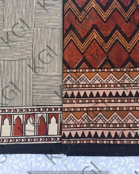 Hand Block Printed Bed Cover 03