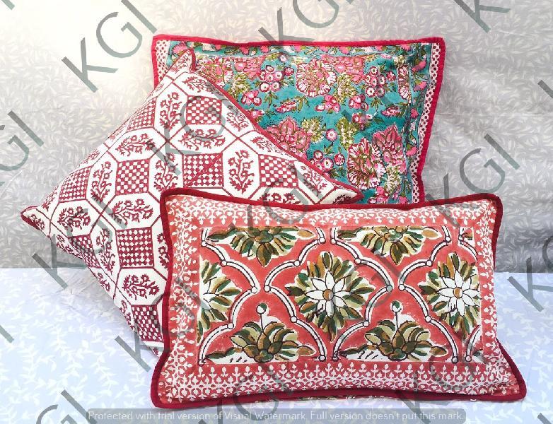 Hand Block Printed Cushion Cover 01